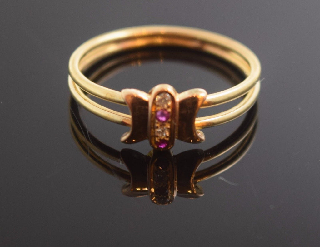 "22k 22ct Solid Gold ELEGANT STONE BAND Ring with FREE  BOX ""RESIZABLE"" r466 - Royal Dubai Jewellers"