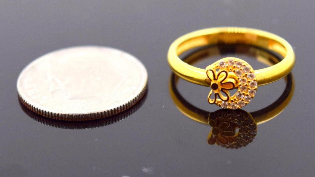22k 22ct Solid Gold CUTE ROUND ZIRCONIA BABY KID Ring