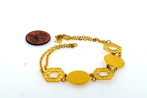 22k 22ct Solid Gold ELEGANT DESIGNER COIN CHARM Bracelet length 7 inch Cb252 - Royal Dubai Jewellers