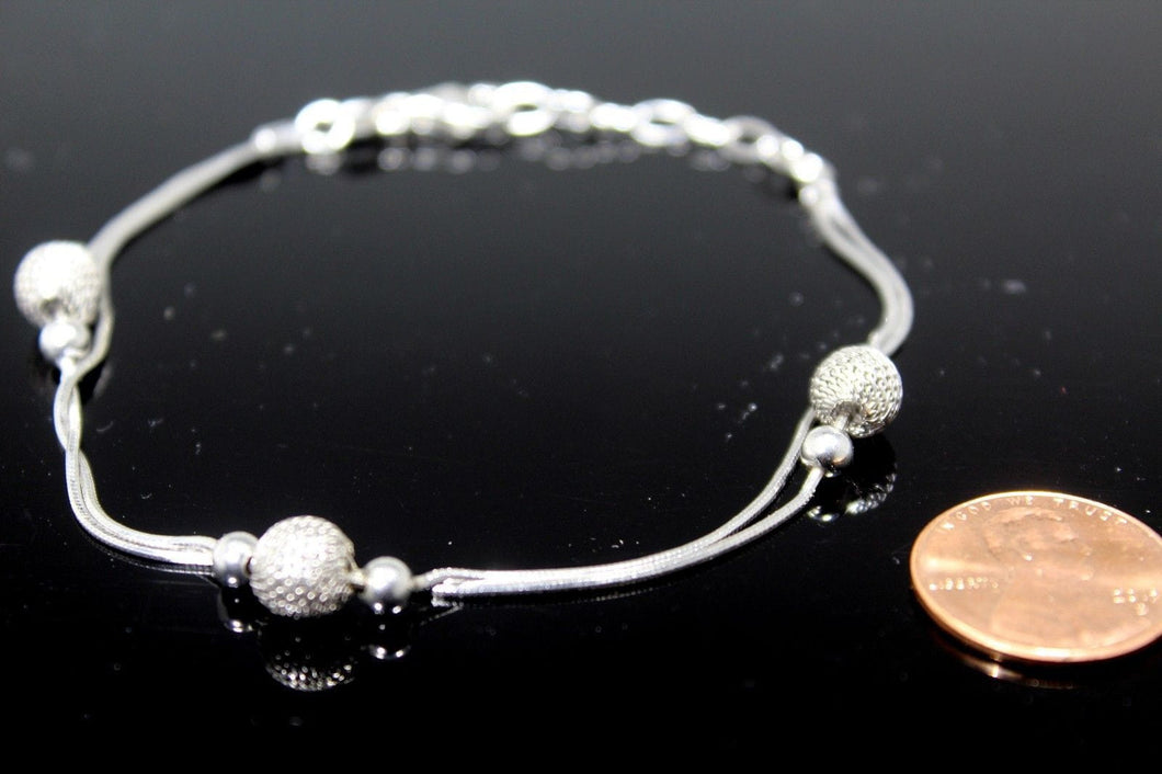 1PC HANDMADE cj35 Solid Sterling Silver 925 women modern charm style braclet - Royal Dubai Jewellers