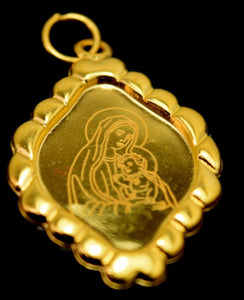 22k 22ct Solid Gold Mother MARY pendant charm locket Jesus Christ Christian p15 - Royal Dubai Jewellers