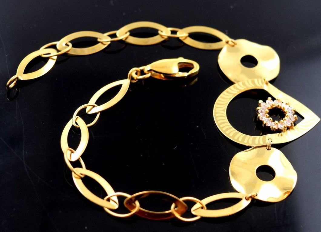 22k 22ct Solid Gold ELEGANT BRACELET LADIES with box B471 - Royal Dubai Jewellers