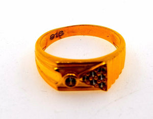 22k 22ct Solid Gold ELEGANT MENS STONE RING band with BOX FREE *RESIZING* R540 - Royal Dubai Jewellers