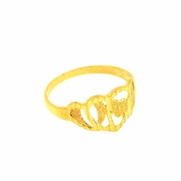 "22k 22ct Solid Gold ELEGANT Ring Band with Box ""RESIZABLE"" R553 - Royal Dubai Jewellers"