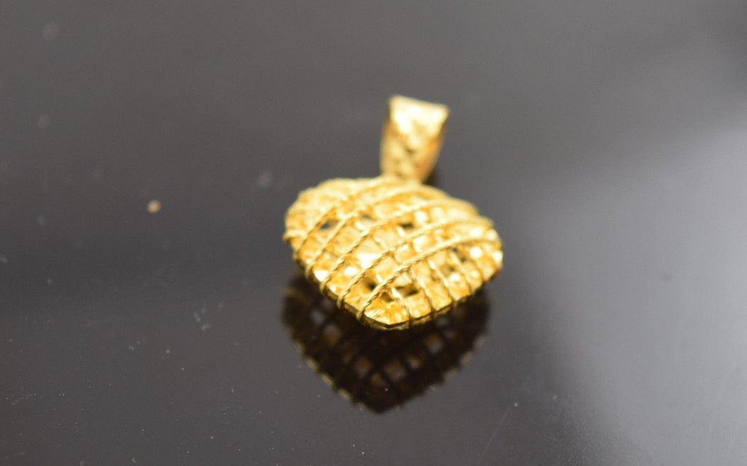 22k 22ct Solid Yellow Gold Unique Elegant Pendant p358 comes with unique box - Royal Dubai Jewellers