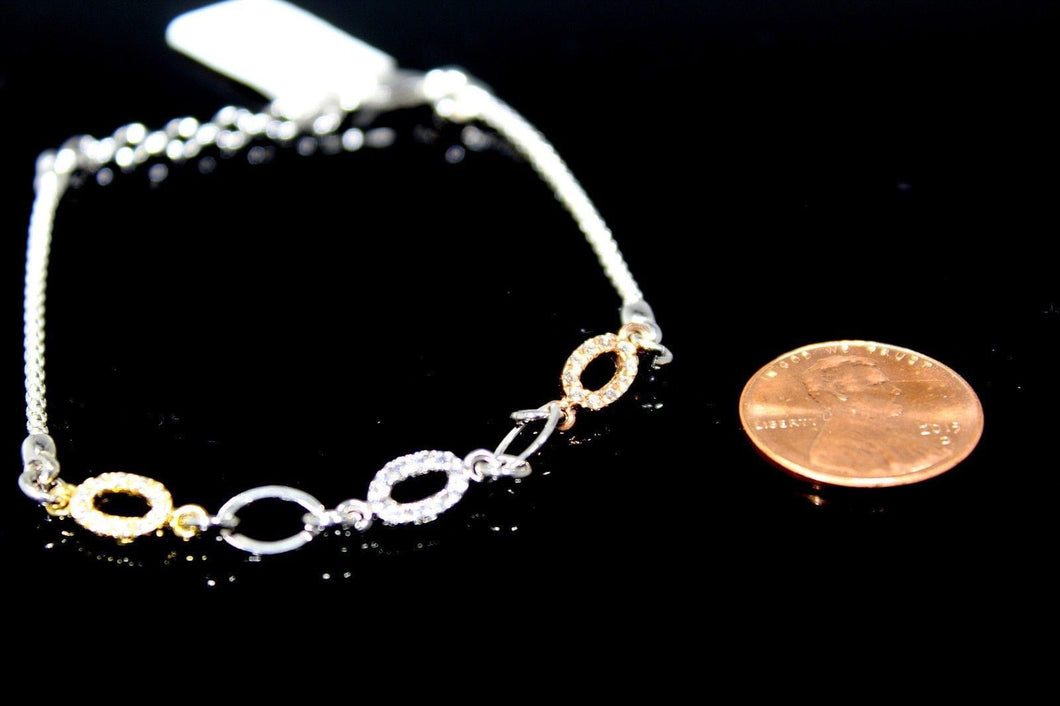 1PC HANDMADE cj36 Solid Sterling Silver 925 women modern charm style braclet - Royal Dubai Jewellers