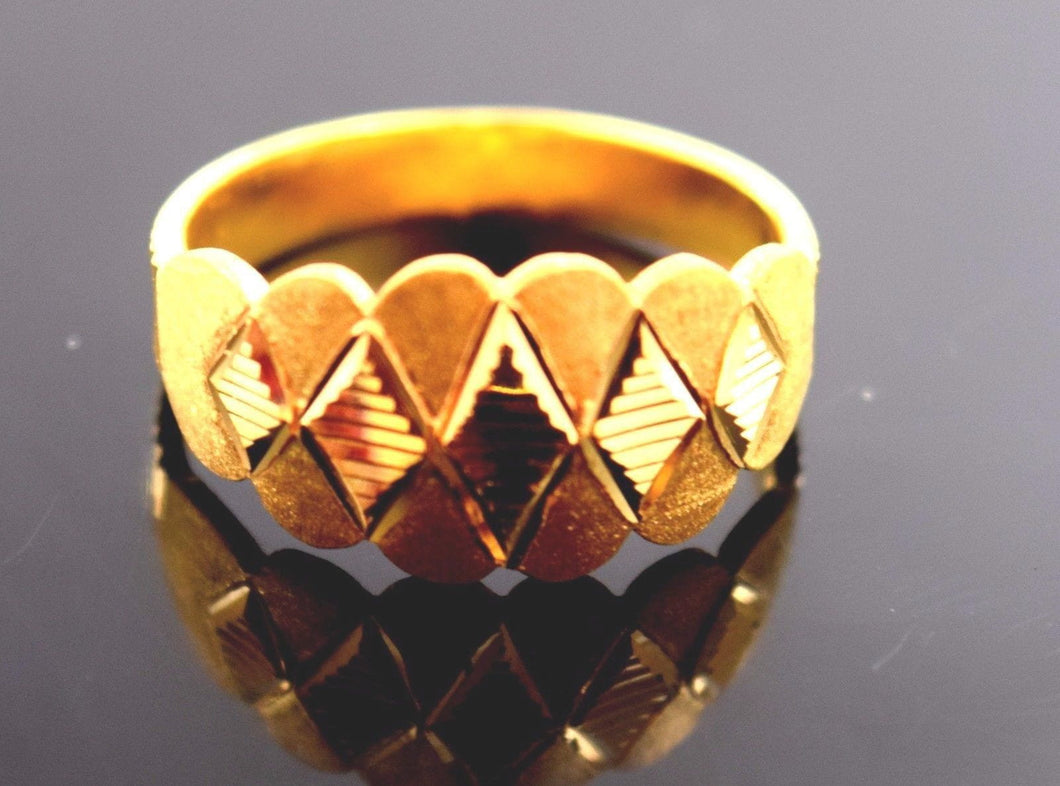 22k 22ct Solid Gold ELEGANT RING band with BOX FREE *RESIZING* R550 - Royal Dubai Jewellers