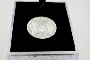 999 Sterling Silver Solid Reglious Coin Handmade Ganesh and Laxmi gloss finish - Royal Dubai Jewellers