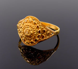 "22k 22ct Solid Gold ELEGANT LADIES BAND Ring SIZE 7.0 ""RESIZABLE"" R686 - Royal Dubai Jewellers"