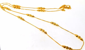 22k 22ct Solid Gold ELEGANT BALL DESIGNER FANCY CHAIN NECKLACE LENGHT:28 c539 - Royal Dubai Jewellers