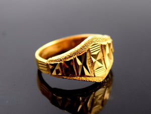 22k 22ct Solid Gold ELEGANT RING band with BOX FREE *RESIZING* R549 - Royal Dubai Jewellers