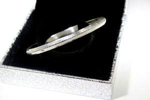 1PC HANDMADE Men b27 Solid Sterling Silver 925 size 3 inch kara Bangle Cuff - Royal Dubai Jewellers