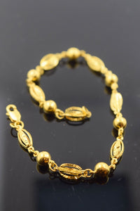 22k 22ct Solid Gold ELEGANT Bracelet length 7.5 Inch CB93 - Royal Dubai Jewellers