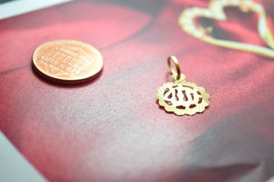 22k 22ct Solid Gold ELEGANT MUSLIM ALLAH 3D SMALL PENDANT Locket FREE BOX P198 - Royal Dubai Jewellers