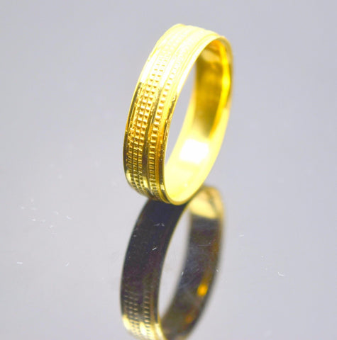 "22k 22ct Solid Gold ELEGANT BAND Ring with FREE18k BOX ""RESIZABLE"" R74"