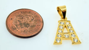 22k 22ct Solid Gold Letter Shape Pendent A letter p308 - Royal Dubai Jewellers