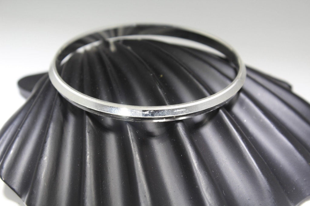 1PC HANDMADE men b113 Solid Sterling Silver 925 size 3 inch kara Bangle