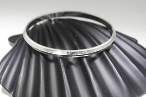 1PC HANDMADE men b113 Solid Sterling Silver 925 size 3 inch kara Bangle - Royal Dubai Jewellers