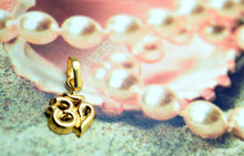 22k 22ct Solid Gold Hindu Religious OM OHM AHM 3DPendant charm FREE BOX 228 - Royal Dubai Jewellers