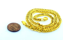 22k 22ct Yellow Solid Gold Chain Necklace 4.8 mm C231 with diamond cut box - Royal Dubai Jewellers