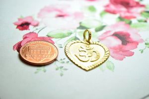 22k 22ct Solid Gold ELEGANT OM AHM OHM HEART PENDANT Locket FREE BOX P202 - Royal Dubai Jewellers