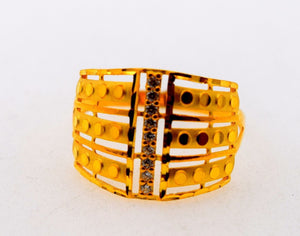 "22k 22ct Solid Gold Elegant STONE BAND Ring size 8.8 ""FREE RESIZABLE"" r626 - Royal Dubai Jewellers"