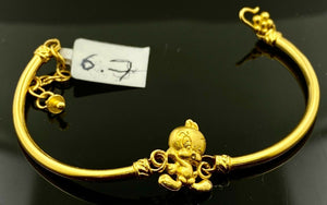22k Bracelet Solid Gold Children Jewelry Simple Cute Birdie Design CB8