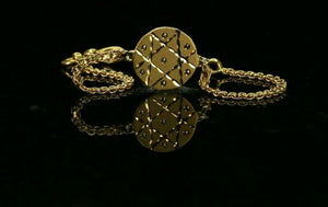 22k Bracelet Solid Gold Simple Dazzling Classic Geometric Star Bracelet cb1288