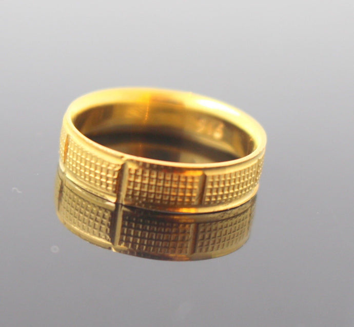 22k 22ct Solid Gold Elegant Women Ring Band Design Size 7
