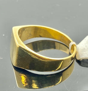 22k Ring Solid Gold Men Jewelry Classic High Polished Signet Design R1993
