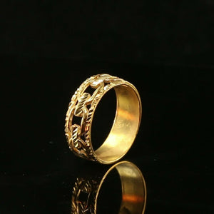 "22k Ring Solid Gold ELEGANT Charm Ladies Link Ring SIZE 11 ""RESIZABLE"" r2082"