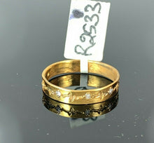 "22k Ring Solid Gold ELEGANT Charm Ladies Band SIZE 8 ""RESIZABLE"" r2533mon"