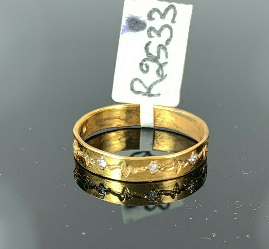 22k Ring Solid Gold ELEGANT Charm Ladies Band SIZE 8