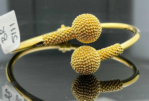 22k Bangle Solid Gold Elegant Charm Unique Exotic Design br5111 - Royal Dubai Jewellers