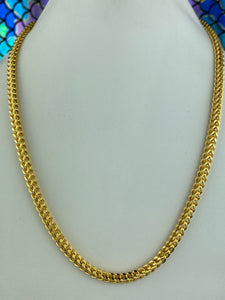 22k Chain Solid Gold Men Jewelry Square Shape Foxtail Design C0222 - Royal Dubai Jewellers
