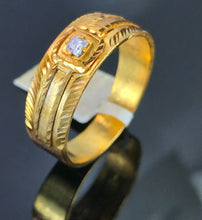 "22k Ring Solid Gold ELEGANT Charm Mens Band SIZE 11 ""RESIZABLE"" r2569mon"