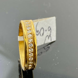 "22k Ring Solid Gold ELEGANT Charm Ladies Channel Band SIZE7.25 ""RESIZABLE"" r2148"