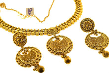 22k Necklace Set Beautiful Solid Gold Ladies Jewelry Simple Antique Design CS300