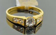 22k Ring Solid Gold Ladies Jewelry Tension Setting With Side Stones R2228