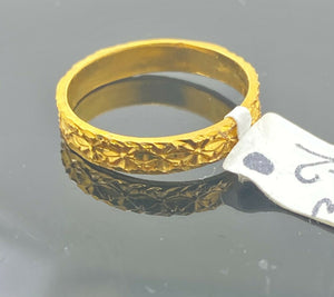 "22k Ring Solid Gold ELEGANT Charm Classic Ladies Band ""RESIZABLE"" r2062mon"