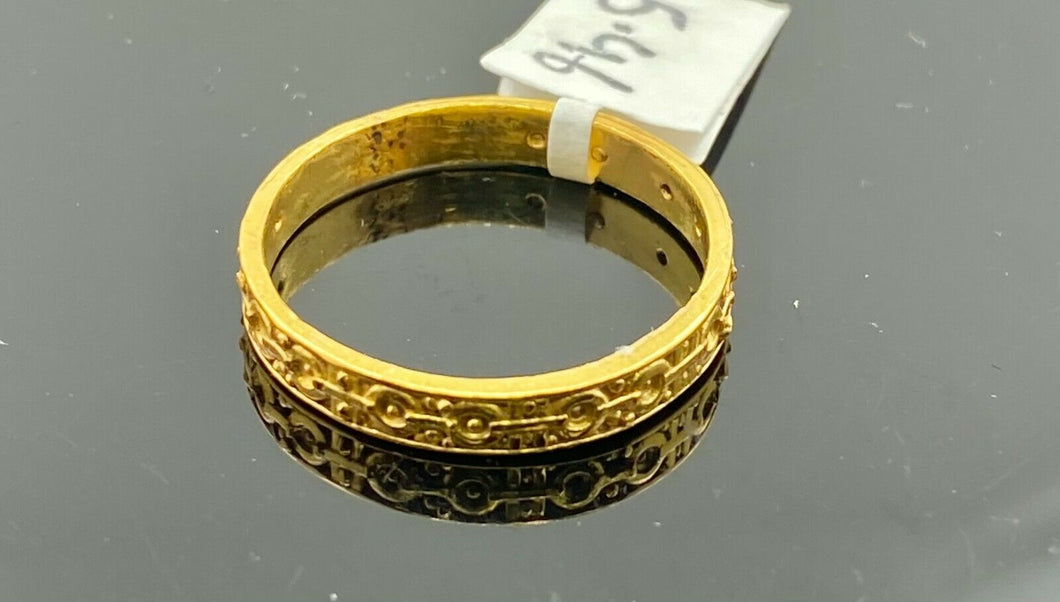 22k Ring Solid Gold ELEGANT Charm Ladies Band SIZE 9.5