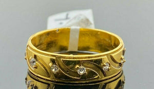 "22k Ring Solid Gold ELEGANT Charm Ladies Band SIZE 7.5 ""RESIZABLE"" r2937mon - Royal Dubai Jewellers"
