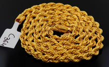 "22k Jewelry Yellow Gold Rope Chain Solid Rope Necklace Modern Design 24"" mf C364 - Royal Dubai Jewellers"