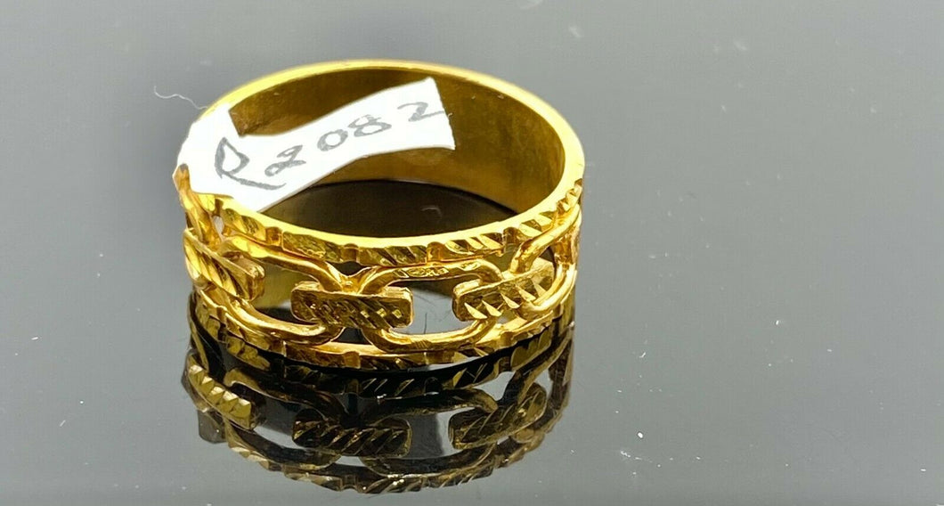 22k Ring Solid Gold ELEGANT Charm Ladies Link Ring SIZE 11