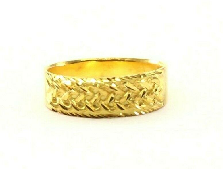 22k Ring Solid Gold ELEGANT Charm Ladies Cross Band  SIZE 7.5