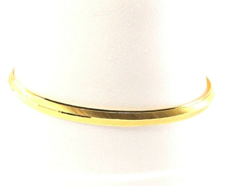 22k Bangle Solid Gold Simple Diamond Cut Mens Kara Design Size 2.38 inch B1179 | Royal Dubai Jewellers