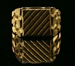 "22k Ring Solid Gold ELEGANT Charm Mens Simple Ring SIZE 9 ""RESIZABLE"" r2176 