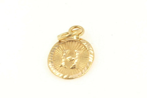22k 22ct Solid Gold Charm Letter H Pendant Oval Design p1150 ns | Royal Dubai Jewellers