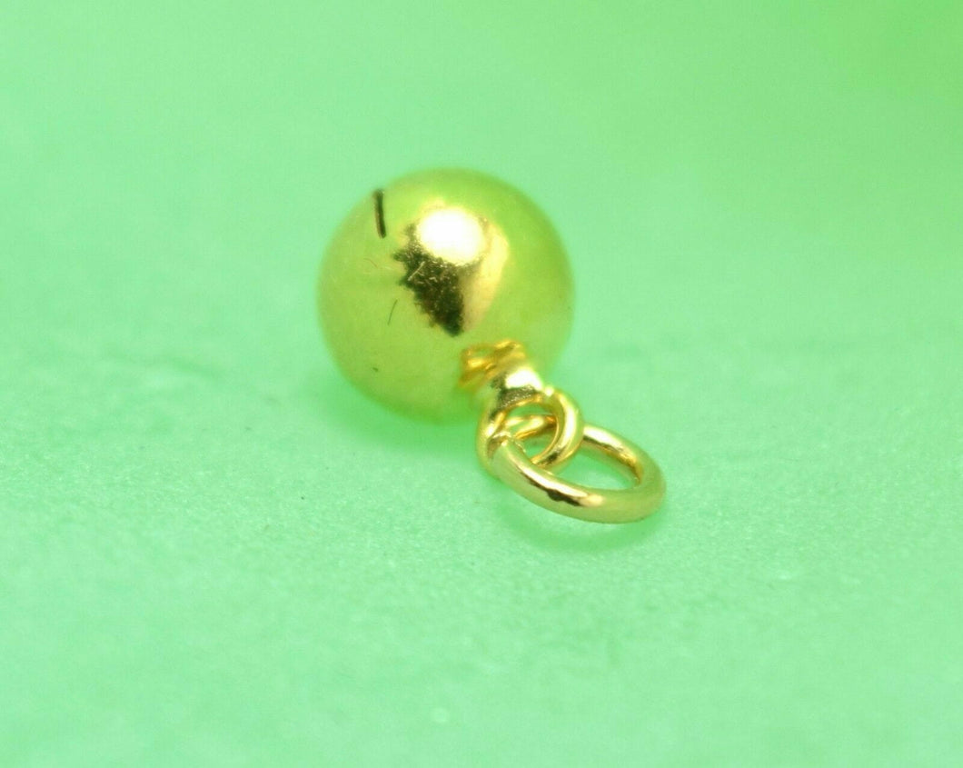 22k 22ct Solid Gold ROUND BALL FINDINGS bead sphere spacer charm pendant clasp | Royal Dubai Jewellers