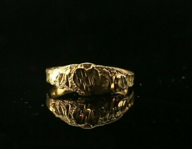 22k Ring Solid Gold ELEGANT Charm Classic Ladies Band SIZE 5